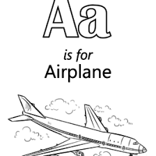 letter airplane coloring archives mente beta