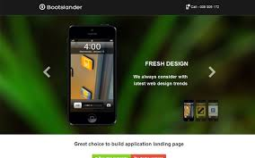 bootslander landing page bootstrap landing pages wrapbootstrap