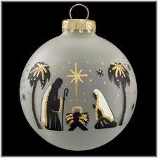 holy family black silhouette ornament religious christmas
