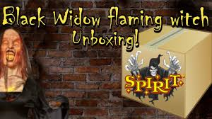 barnyard butcher spirit halloween black widow flaming witch prop unboxing youtube