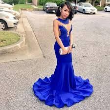 blue graduation dresses cheap backless royal blue mermaid prom dresses for graduation