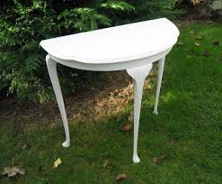 white half moon table white half moon hall table unique pieces of furniture hand