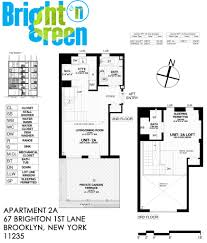 Garden Apartment Floor Plans Bright N Green Apartment 2a Floor Plan