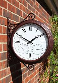 Patio Clock And Thermometer Sets by Amazon Com Double Sided Station Clock 38cm 15