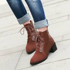 s boots lace up low heel fashion vintage low heels platform ankle boots 2014 autumn
