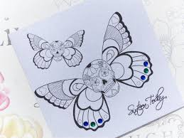 handmade birthday card 16th winged sugar skull tattoo