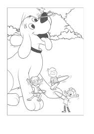 coloring pages of clifford the big red dog pictures to like or