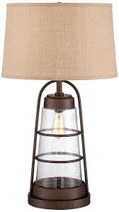 Edison Bulb Table L Industrial Lantern Table L With Light