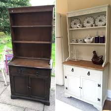 Painted Furniture Ideas Before And After My Upcycled Shabby Chic Welsh Dresser Drinks Cabinet Really