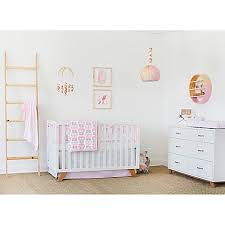 Pink Brown Crib Bedding Petunia Pickle Bottom Dreaming In Dax Crib Bedding Collection In
