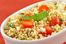 minted couscous salad with tomatoes and feta recipe