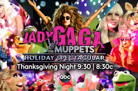 gaga and miss piggy fight kermit the frog in