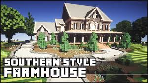 minecraft southern styled farmhouse youtube