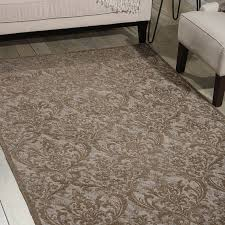 Damask Rugs Damask Rugs Das02 In Grey By Nourison Free Uk Delivery The Rug