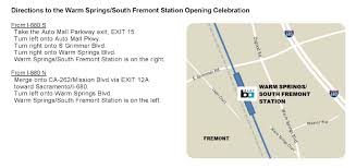 Bart Expansion Map by Warm Springs Extension News Bart Gov