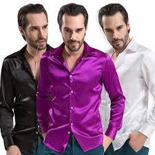 click to buy u003c u003c men solid tuxedo shirt business fashion polyester
