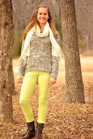 winter for teen neon jeans sweater and steve madden