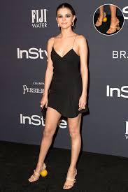 selena gomez wears balled heel to instyle awards people com
