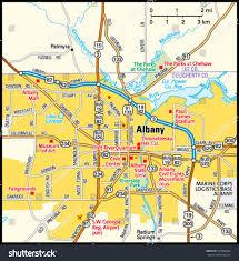 Atlanta Area Map Albany Georgia Area Map Stock Vector 153666566 Shutterstock