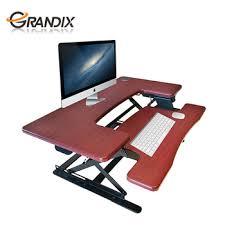 Stand Up Computer Desk by Folding Stand Up Workstation Laptop Desk Height Adjustable