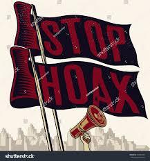 Vintage Flag Art Stop Hoax Flag Vintage Propaganda Poster Stock Vector 720944989