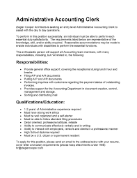 Junior Accountant Sample Resume by Resume Accounting Clerk Sample Resume