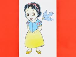 draw baby snow white 7 steps pictures wikihow