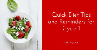 quick diet tips for cycle 1 17 day diet