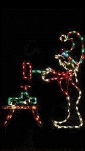 animated santa u0027s workshop w smoke outdoor led lighted decoration