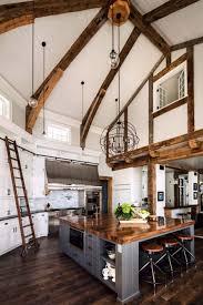 shaped kitchen island made of cedar tree designs pinterest a gorgeous farmhouse style home on big cedar lake farmhouse
