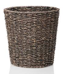 Designer Kitchen Trash Cans by Amazon Com Waste Bin Woven Waste Paper Basket For Bedroom