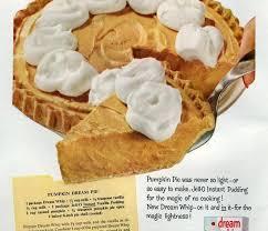 pumpkin pie no bake recipe 1959 click americana