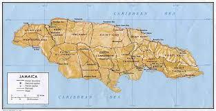 jamaica physical map jamaica map 1 mapsof net