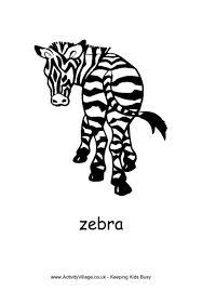 zebra colouring