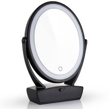 amazon com miusco two sided lighted makeup mirror with vanity