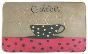 Memory Foam Kitchen Rug by Memory Foam Kitchen Rug Coffee Cup Bistro Decor Cushion