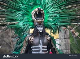 jaguar costume cancun mexico mar 16 2017 handsome stock photo 619933430