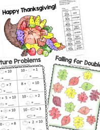 thanksgiving activities packet for 1st grade by the classroom key