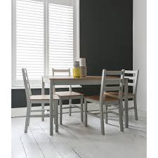 annika dining table with 4 chairs in silk grey u0026 pine noa u0026 nani