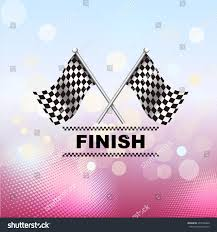Finish Line Flag Racing Flag Vector Icon Finish Line Stock Vector 403700446