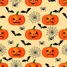 halloween seamless background halloween pattern with pumpkins bats spiders webs seamless