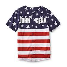 American Flag Shoes Never Give Up By John Cena Boy U0027s Graphic Baseball Shirt American