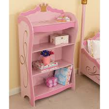 display her favorite fairytales on this pink bookshelf regally