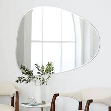 frameless pictures frameless asymmetrical wall mirror west elm
