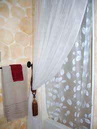 tie back shower curtains home design ideas and pictures