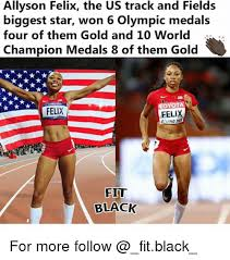 Track Memes - allyson felix the us track and fields biggest star won 6 olympic