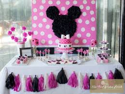 Pink And Black Minnie Mouse Decorations Minnie Mouse Birthday Party Ideas Minnie Mouse Backdrops And Mice