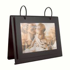 flip photo album 4x6 personalized black flip photo album picture frame on metal stand