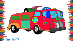 fire truck coloring pages video for kids to learn colors youtube