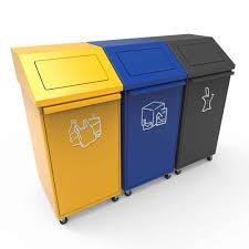 poubelle recyclage cuisine poubelle tri recyclage avec couvercle basculant et roues